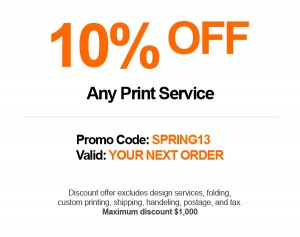 Save 10% Off Your Next Printing Project