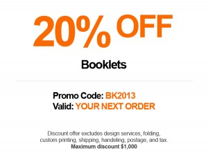 Save 20% Off Your Next Order of Booklets.